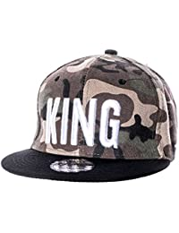 Unisex Snapback Cap Queen King Snap Uni camouflage Baseballcap Sport