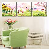 Best Pictures For Living Room Decors - Business Trends 3 Panel Canvas Painting Fairy Tale Review