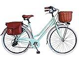 Via Veneto by canellini Fahrrad Fahrrad Citybike CTB Damen Vintage Retro via Veneto Aluminium, hellgrün