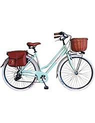 Via Veneto by canellini bicicleta bicicleta Citybike Ctb Mujer Vintage Retro Via Veneto aluminio, verde claro