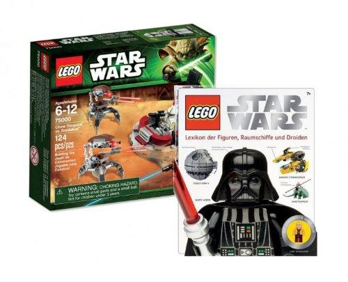 LEGO Star Wars 75000 Clone Trooper vs. Droidekas und 6730287 Lexikon mit Figur 9120055080558