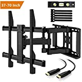 Support Murale TV Orientable Et Inclinable – Support TV Murale Pour LED, LCD, OLED, TV A Écran Plat De 37 à 70 Pouces – Fixation TV Mural Ultra Résistant Qui Inclus Câble HDMI 1.8m, Niveau à Bulle, Attaches De Câble