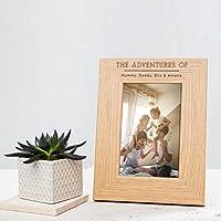 Personalisierbarer Bilderrahmen aus Holz - Fotorahmen in den Größen: 15 x 10 cm, 18 x 13 cm und 20 x 15 cm - personalisiertes Geschenk zu JEDEM Anlass wie z.B. für Beste Freunde - Rahmen für Familienfotos und Hochzeitsfotos - Personalised Wooden Photo Frame - Mr and Mrs Wedding Day Photo Frame