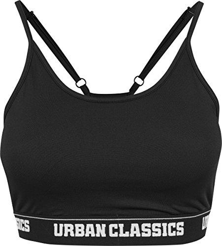 Womens Bras (Urban Classics Damen BH Ladies Sports Bra, Schwarz (Black 7), 80B(Herstellergröße: M))