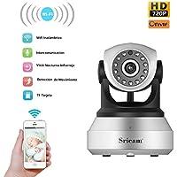 OCDAY HD 1280*720 IP Cámara de Seguridad Inalámbrica WiFi de Vigilancia Interior Detección Movimiento