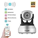 OCDAY HD 1280*720 IP Cámara de Seguridad Inalámbrica WiFi de Vigilancia Interior Detección Movimiento Visión Compatible con iOS y Android