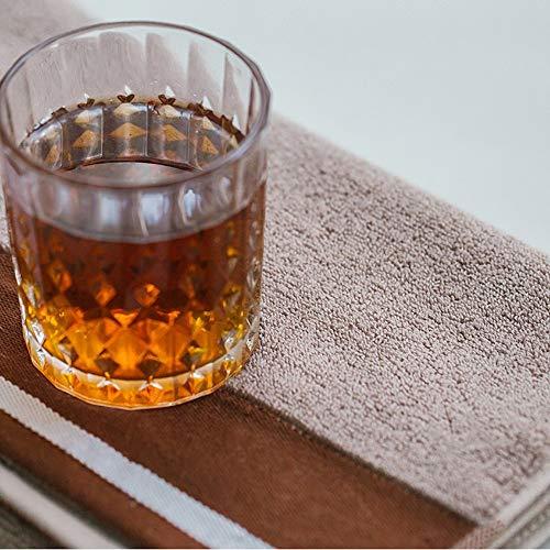 Liuweiwei asciugamano assorbente assorbente per la casa in cotone morbido per adulti completo di asciugamano da bagno, marrone chiaro