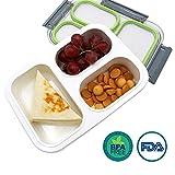 OldPAPA Bento Box, BPA Frei Lunch Box mit Mittagessen Tasche Kinder & Erwachse Lunchboxen, Brotdose mit 3 Unterteilungen