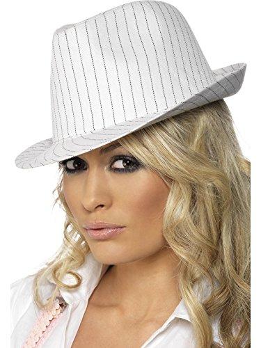 20er Jahre Hut Gangsterhut mit schwarzen Nadelstreifen Damenhut -