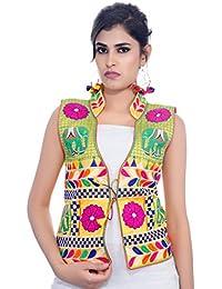 Banjara India Women's Jacket (MJK-HTH05_Yellow_Free)