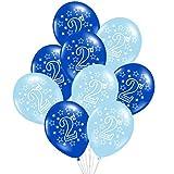 Yalulu 20 Stück 1st/2nd Jahr Alt Rosa Blau Geburtstag Party Ballone für Baby Shower Party Hochzeits Deko - 12 inch Latex Ballone (2nd,Blau)