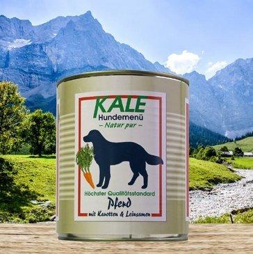 Kale Nassfutter Hundefutter Pferd mit Karotten & Leinsamen (12 x 800g)