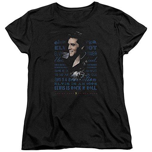 Elvis - Icon T-Shirt in Schwarz Black