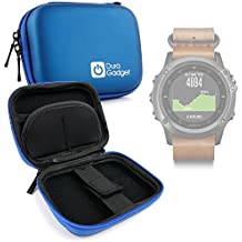 DURAGADGET Estuche Rígido Azul Para Smartwatch Garmin Fénix 3 / HR / Leather / Nylon / Titanium