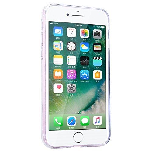 """WE LOVE CASE iPhone 8 Hülle Glitzern Transparent Durchsichtig Schwarz iPhone 8 4,7"""" Hülle Silikon Weich Halbe Blume Handyhülle Tasche für Mädchen Elegant Backcover , Soft TPU Flexibel Case Handycover  Diamond"""