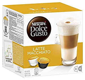 LATTE Nescafe Dolce Gusto Pods Capsules milk and coffee pods (choose from 16, 48, 80 or 96 pods) (x80 pods)