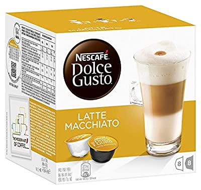 LATTE Nescafe Dolce Gusto Pods Capsules milk and coffee pods (choose from 16, 48, 80 or 96 pods) (x16 pods) 8 Servings