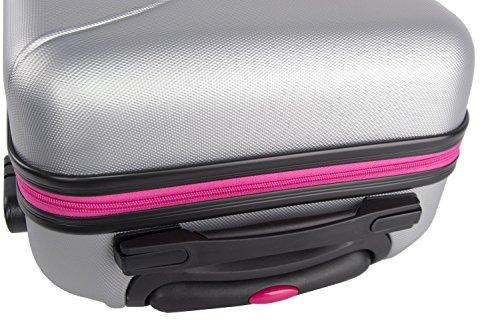51VXwvIQ4uL - 3 Maletas rígidas PIERRE CARDIN plata 4 ruedas cabina para viajes