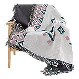 Max Home Weiche Decken Individuelle Verdicken Herbst und Winter Geometrische Vintage Decke Anwendbar für Stuhl Schlafsofa (größe : 125*150cm)