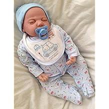ycn Reborns, recién nacido bebé recién nacido bebé, Boy, Andy, realista suave vinilo, libre magnético chupete