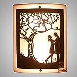 WhiteRay Wooden Couple Designed LED Wall Light