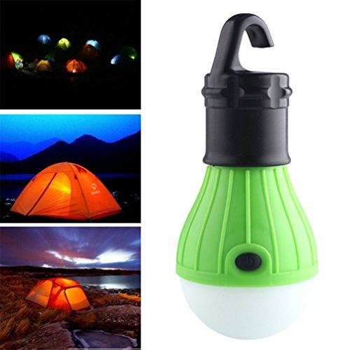3 LED Ultra Bright Outdoor Griff Camping Lampe Zelt Glühbirne mit Lampenhaken (Farbe: Grün)