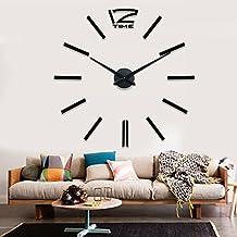 Nero Gigante Designer Orologio da parete soggiorno decorazione parete Tatoo XXL 3d in acrilico