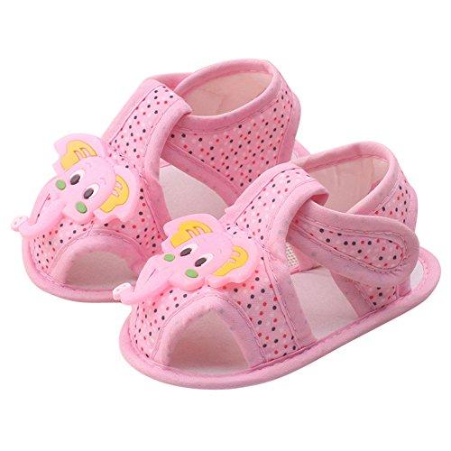 Sandalias recién Nacidas Primera Infancia | Zapatos de Elefante de Dibujos Animados Sandalias Flip-Flop Zapatos Abiertos con Punta Abierta Primeros Pasos - Zapatos de bebé niños de 6 a 12 Meses