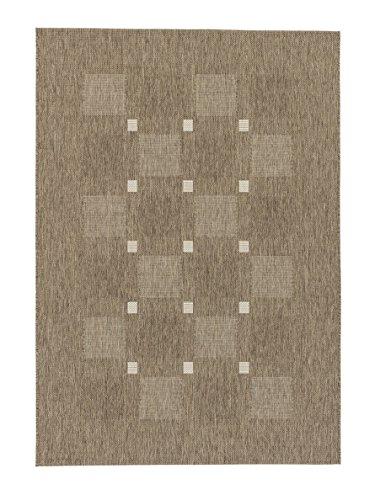 Teppich Andria - 6511-163-084 - taupe - 80 x 200 cm - Vorleger, Läufer, Gallerie, Teppich - Design: Streifen - Vielseitig und Individuell - Nicht nur im Wohnzimmer, sondern auch in der Küche und im Flur macht dieser Teppich eine gute Figur und ist dabei besonders pflegeleicht. Mit seinen vier verschiedenen Designs in drei Farbstellungen, ist er nicht nur flexibel anwendbar, sondern verleiht dazu jedem Raum einen natürlichen und zeitlosen Look.