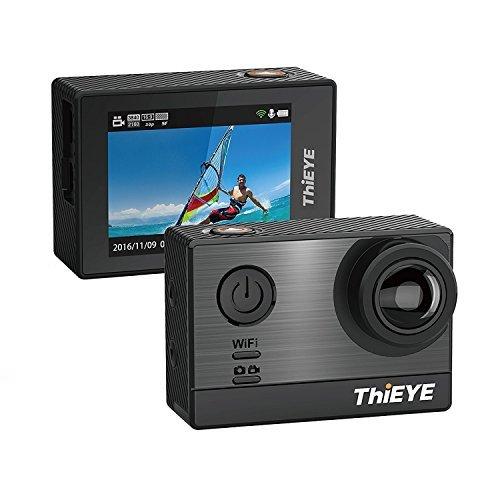 ThiEYE T5e 4k wifi camaras deportivas 16MP, Pantalla de 5,08 cm (2,0 pulgadas),Sony sensor,60m Sumergible,170 ° gran angular Videocámara,control de APP para buceo