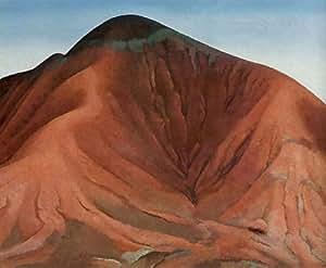 Peinture à l'huile encadrée - 16 x 13 inches / 41 x 33 CM - Georgia O'keeffe - Les petites collin...