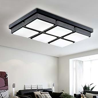 BLYC- Kreative rechteckige LED einfache Schlafzimmer Wohnzimmer Lampe Deckenleuchte Eisen Lampen und Ornamente 480/720 mm * 480 mm * 80 mm , 6 head