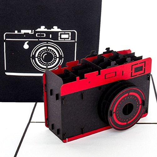 """Pop Up Karte""""Kamera"""" – 3D Geburtstagskarte Fotograf, Grußkarte & Glückwunschkarte für Foto Fans als Geschenk, Geschenkverpackung oder Geschenkgutschein für Fotoapparat & Digitalkamera"""