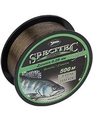 Specitec Zander - Sedal de pesca (0,25 mm de diámetro, ideal para lucioperca), color beige transparente