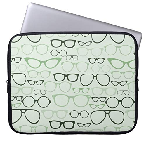 Mint Hipster Glasses Trendy Computer Bag Gifts Computer Cases for Laptops 17.3 17 Inch Gifts for Women