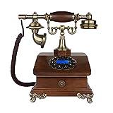 Phone QIN WNQ European Style Retro Telefon Drehen Dial Button Dial haben Schublade Massivholz 27 * 26.5cm A+ (Farbe : 2#)