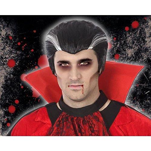 Perücke Vampire Erwachsene Männer (Schwarz Vampira Perücke Für Erwachsene)