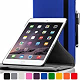 ForeFront Cases® New Apple iPad Air Rotating Leather Case Cover / Stand with Magnetic Auto Sleep Wake Function For New 2013 iPad Air + WiFi 16Gb, 32Gb, 64Gb, 128Gb - BLUE
