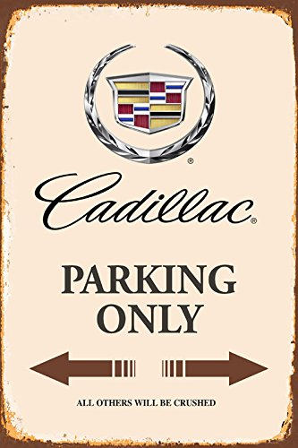 Cadillac Parking only park schild tin sign schild aus blech garage