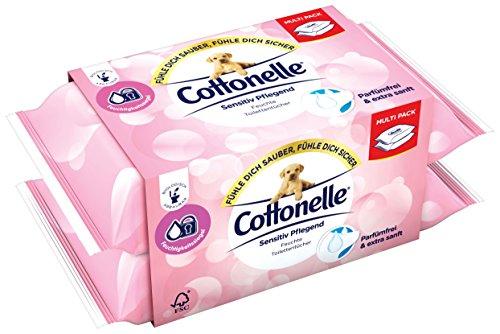 Cottonelle Pure Sensitive Duo Feuchttücher, 2er Pack (2 x 42 Tücher)