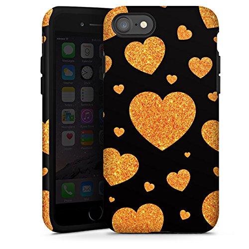 Apple iPhone X Silikon Hülle Case Schutzhülle Liebe Love Herz Muster Tough Case glänzend