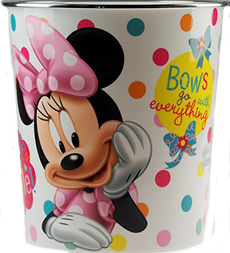 Papierkorb mit Disney Minnie Mouse-Motiv, Kinderzimmer, gepunktet