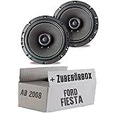 Ampire CP165-16cm Lautsprecher 2-Wege Koaxialsystem - Einbauset für Ford Fiesta MK7 Front Heck - JUST SOUND best choice for caraudio