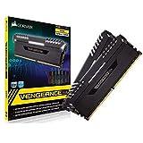 Corsair Vengeance RGB - Kit de Mémorie Enthousiaste (32Go (2x16Go), DDR4, 3000MHz, C16, XMP 2.0) - Noir