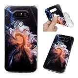 Edauto Hülle für LG G5 Handyhülle Case Transparent Durchsichtige Stoßfest Schutzhülle Tasche Handytasche Handyschale TPU Silikon Rückhülle Schale Backcover Etui Wirbel