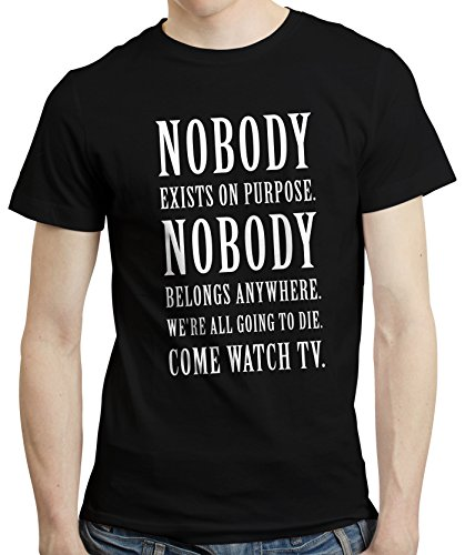 T Christmas Shirt Ideen (Nobody Exists On Purpose - Rick Quote Morty Unofficial Fans T-shirt Tshirt (XXXL,)
