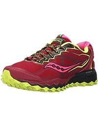 SAUCONY Pro Grid Outlaw Scarpa da Trail Running Donna, Nero/Verde, 37.5