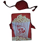 WTR Popcorn Junk Food Dress (Cutout With Cap) For Fancy Dress Competitions/School Functions Birthday Gift