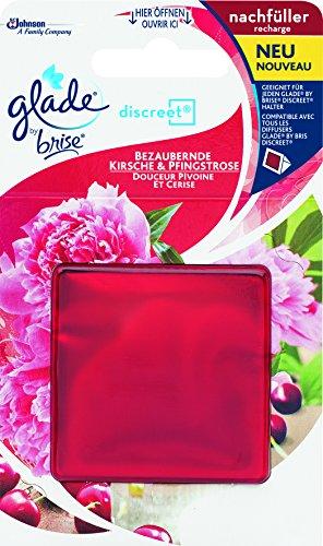 Glade By Brise Original Nachfüller für Discreet Duftprodukte, Für langanhaltende Frische in allen Räumen, 8 g, Fruchtiger Kirsche & Pfingstrosen-Duft