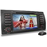 """B-E39 Autoradio für BMW E39 (5er Reihe, M5) E38 (7er Reihe) E53 ( X5 ) mit GPS Navigation, Navi Software, Bluetooth Freisprecheinrichtung + 18 cm / 7"""" Zoll Touchscreen Bildschirm, DVD-CD-Player, USB, Micro SD, Anschlüsse für Rückfahrkamera, Lenkradfernbedienung, Subwoofer"""